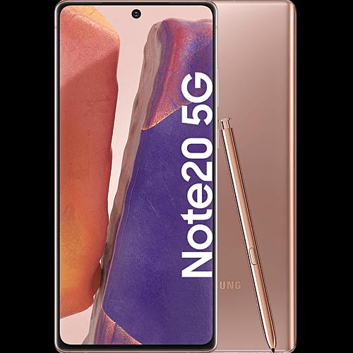 Samsung Galaxy Note20 5G Mystic Bronze Vorne und Hinten