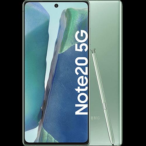 Samsung Galaxy Note20 5G Mystic Green Vorne und Hinten