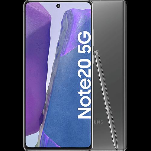 Samsung Galaxy Note20 5G Mystic Gray Vorne und Hinten