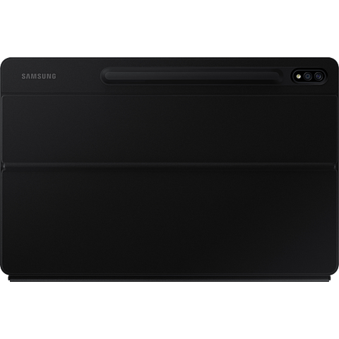 Samsung Keyboard Cover Galaxy Tab S7+ - Schwarz 99931225 hinten