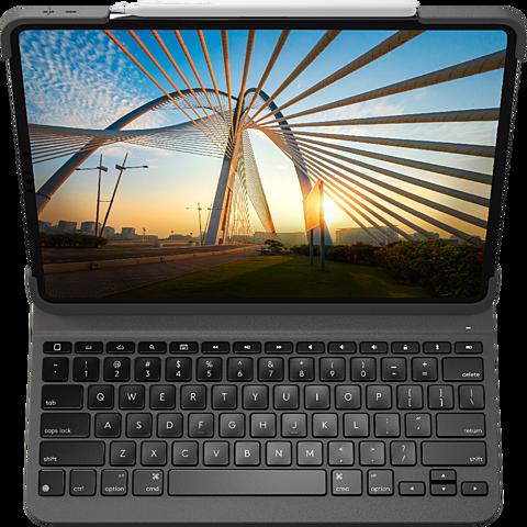 Logitech Slim Folio Apple 12,9 iPad Pro (4. Gen.) - Schwarz 99931231 hinten