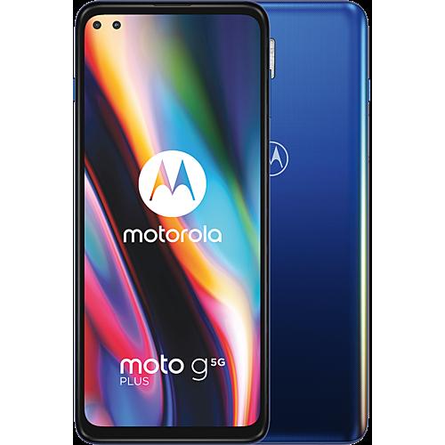 Motorola Moto G 5G Plus Blau Vorne und Hinten