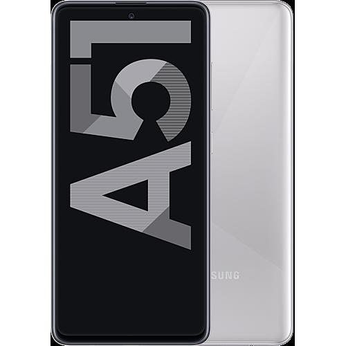 Samsung Galaxy A51 Haze Crush Silver Vorne und Hinten