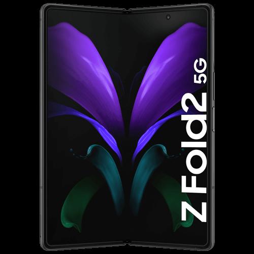 Samsung Galaxy Z Fold2 5G Mystic Black Vorne und Hinten