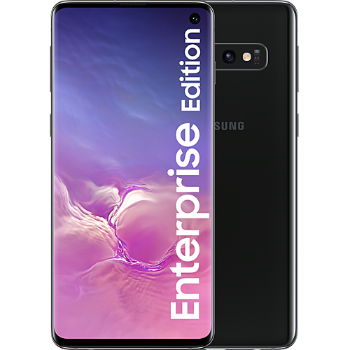 Samsung Galaxy S10 Enterprise Edition Prism Black Vorne und Hinten