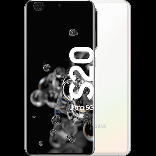 Samsung Galaxy S20 Ultra 5G Cloud White Vorne und Hinten