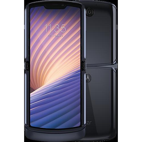 Motorola Razr 5G Schwarz Vorne und Hinten