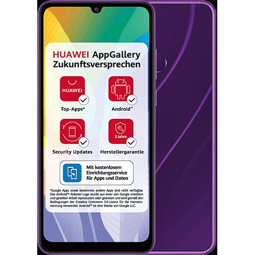 HUAWEI Y6p Phantom Purple Vorne und Hinten