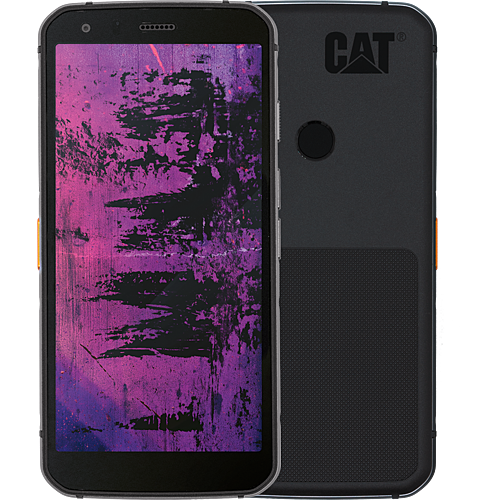 CAT S62 Pro Schwarz Vorne und Hinten