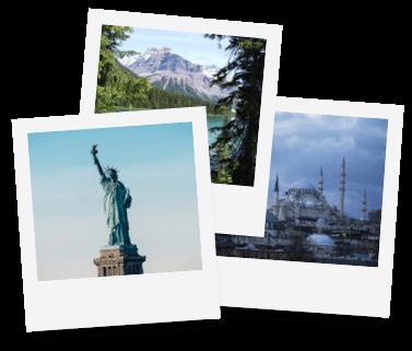 Telekom Travel Mobil - Urlaubsziele auf Polaroid