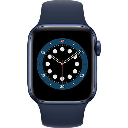 Apple Watch Series 6 Aluminium Sportarmband Blau Vorne