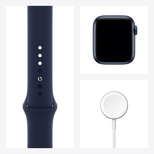 Apple Watch Series 6 Aluminium Sportarmband Blau Set