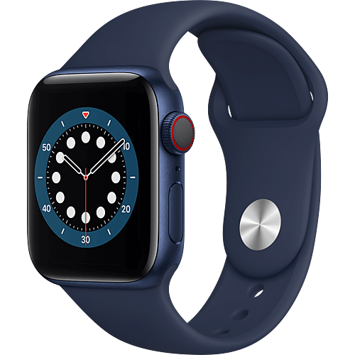 Apple Watch Series 6 Aluminium Sportarmband Blau Seite