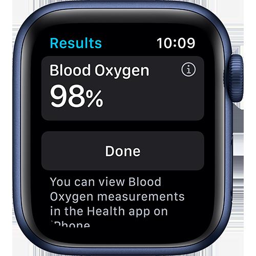 Apple Watch Series 6 Aluminium Sportarmband Blau Screen 2