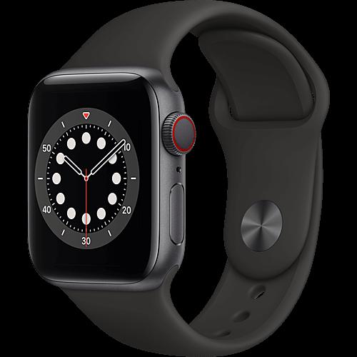 Apple Watch Series 6 Aluminium Sportarmband Space Grau Seite
