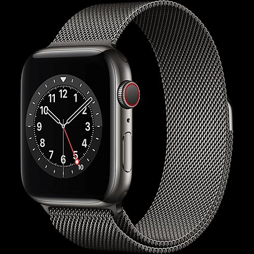 Apple Watch Series 6 Edelstahl Milanaise Graphit 2 Seite