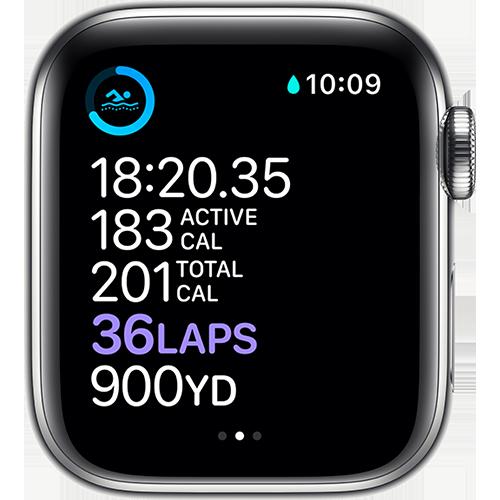 Apple Watch Series 6 Edelstahl Milanaise Silber Screen