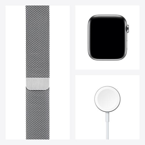 Apple Watch Series 6 Edelstahl Milanaise Silber Set