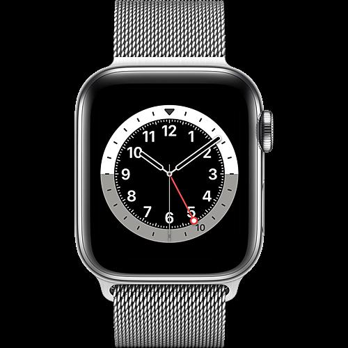 Apple Watch Series 6 Edelstahl Milanaise Silber Vorne
