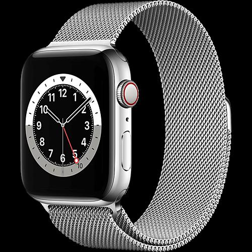 Apple Watch Series 6 Edelstahl Milanaise Silber 2 Seite