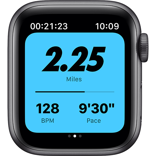 Apple Watch Nike Series 6 Aluminium Sportarmband Space Grau Screen