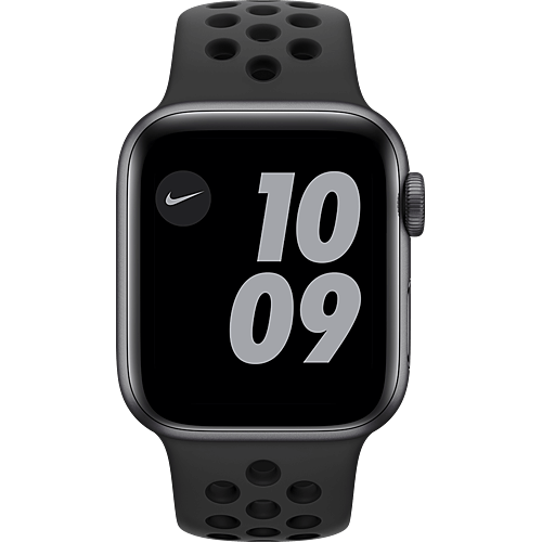 Apple Watch Nike Series 6 Aluminium Sportarmband Space Grau Vorne