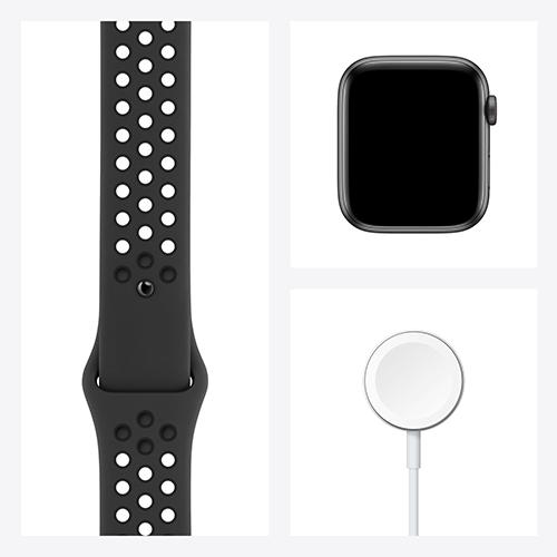 Apple Watch Nike SE Aluminium Sportarmband Space Grau Set