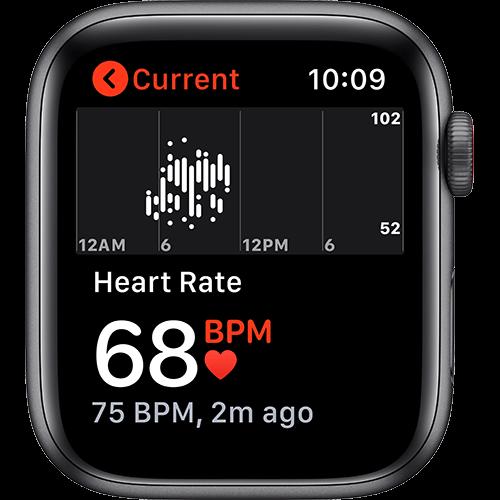 Apple Watch Nike SE Aluminium Sportarmband Space Grau Screen 2