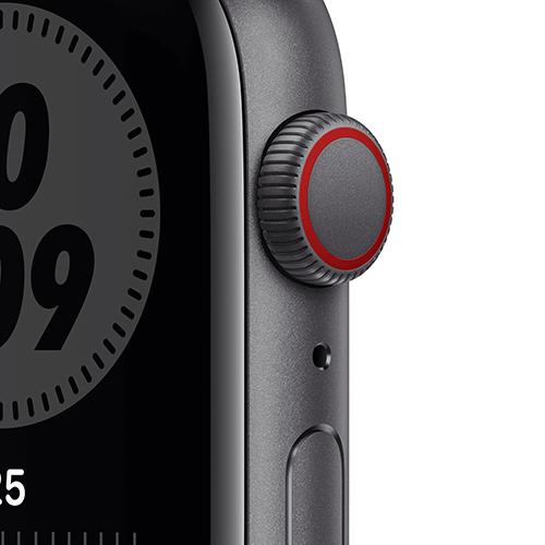 Apple Watch Nike SE Aluminium Sportarmband Space Grau Vorne