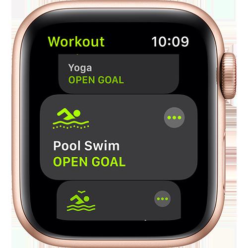 Apple Watch SE Aluminium Sport Loop Gold Screen