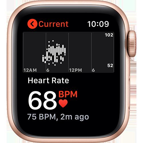 Apple Watch SE Aluminium Sport Loop Gold Screen 2