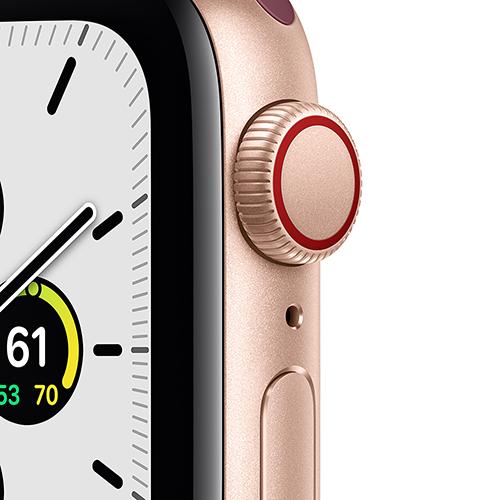 Apple Watch SE Aluminium Sport Loop Gold Vorne