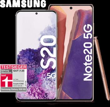 Vertragsverlaengerung: Samsung Galaxy S20 5G