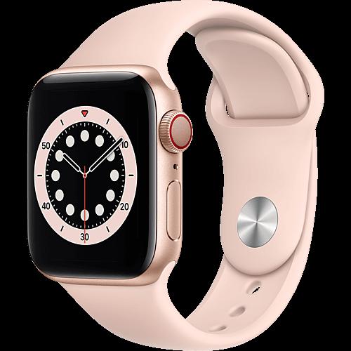 Apple Watch Series 6 Aluminium Sportarmband Gold Seite