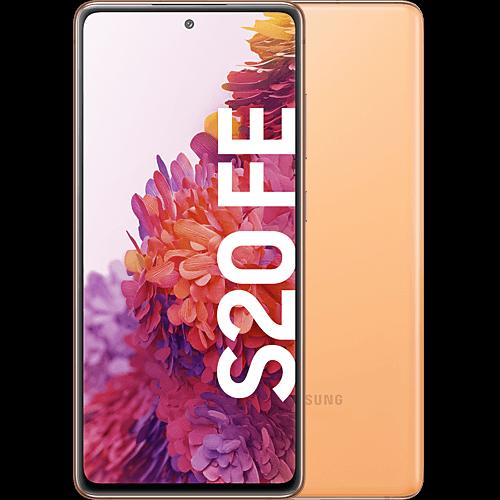 Samsung Galaxy S20 FE Cloud Orange Vorne und Hinten
