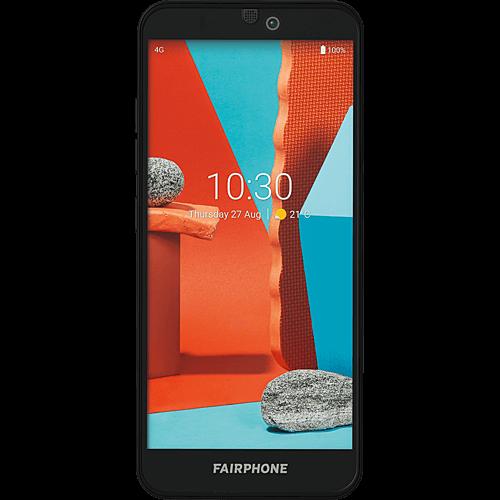 Fairphone 3+ Schwarz Vorne