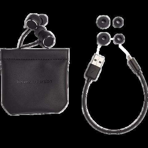 Harman Kardon FLY Wireless In-Ear Bluetooth-Kopfhörer - Schwarz 99931264 hinten
