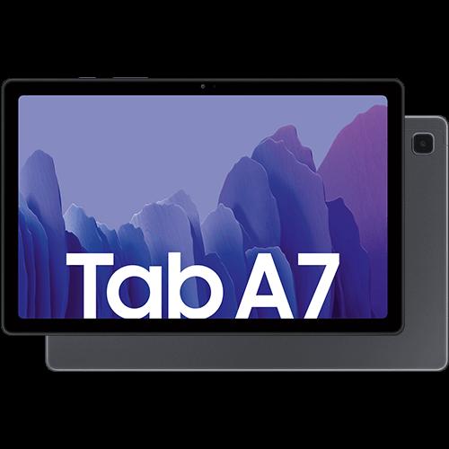Samsung Galaxy Tab A7 LTE Dark Grey Vorne und Hinten