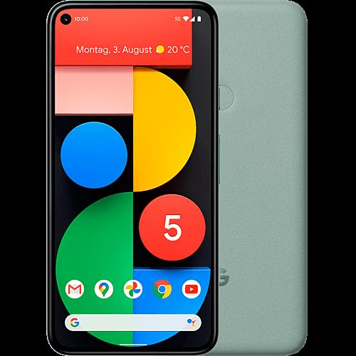 Google Pixel 5 Sorta Sage Vorne und Hinten