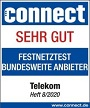 Laut connect Breitband- und Festnetztest, Heft 08/2020, Sehr gut