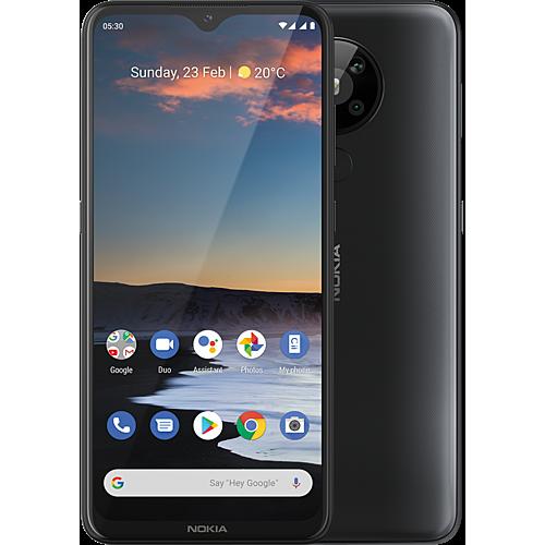 Nokia5.3 Charcoal Vorne und Hinten