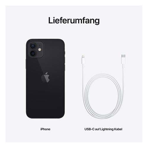Apple iPhone 12 Schwarz Lieferumfang