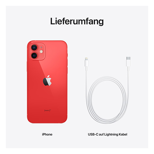 Apple iPhone 12 (PRODUCT)RED Lieferumfang