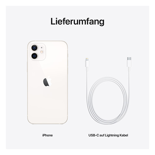 Apple iPhone 12 Weiß Lieferumfang