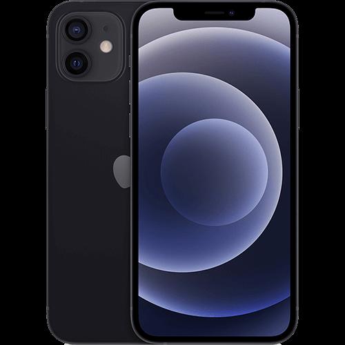 Apple iPhone 12 Schwarz Vorne und Hinten