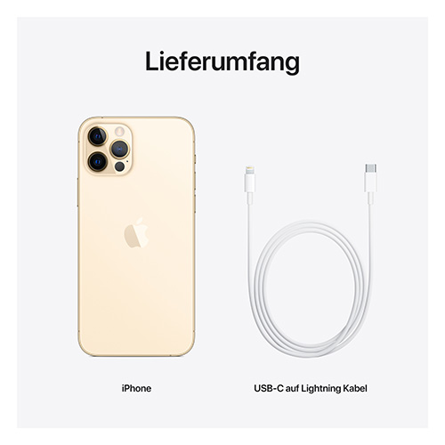 Apple iPhone 12 Pro Gold Lieferumfang