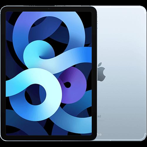 Apple iPad Air (4. Gen.) WiFi und Cellular Sky Blau Vorne und Hinten