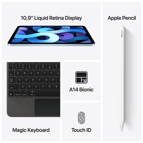 Apple iPad Air (4. Gen.) WiFi und Cellular Silber Gallerie 4