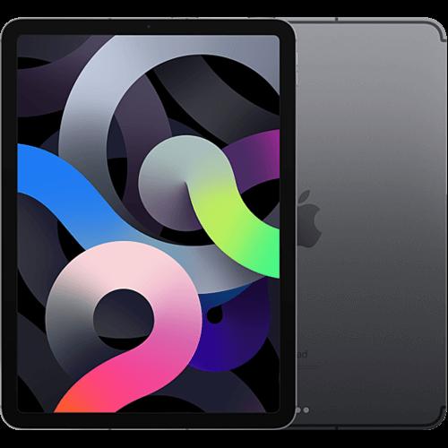 Apple iPad Air (4. Gen.) WiFi und Cellular Space Grau Vorne und Hinten