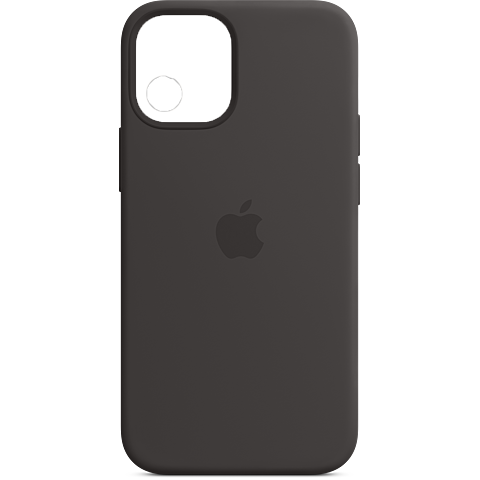 Apple Silikon Case iPhone 12 mini - Schwarz 99931391 vorne